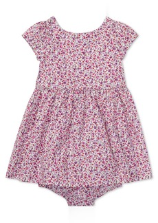 Ralph Lauren: Polo Ralph Lauren Baby Girls Floral Cotton Fit & Flare Dress
