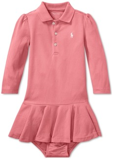 Ralph Lauren: Polo Ralph Lauren Baby Girls Long-Sleeve Cotton Polo Dress