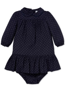 Ralph Lauren: Polo Ralph Lauren Baby Girls Polka-Dot A-Line Dress
