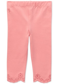 Ralph Lauren: Polo Ralph Lauren Baby Girls Scalloped Eyelet Jersey Leggings