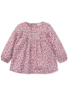 Ralph Lauren: Polo Ralph Lauren Baby Girls Smocked Floral Cotton Top