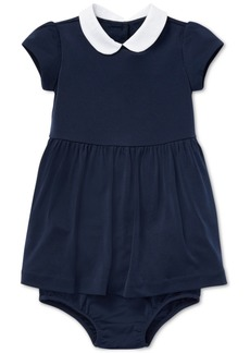 Ralph Lauren: Polo Ralph Lauren Baby Girls Stretch Dress & Bloomer