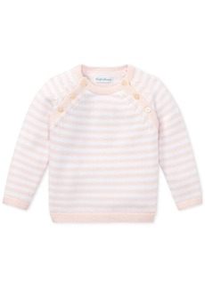 Ralph Lauren: Polo Ralph Lauren Baby Girls Striped Cotton Sweater