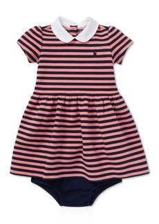 Ralph Lauren: Polo Ralph Lauren Baby Girls Striped Ponte Knit Dress & Bloomer