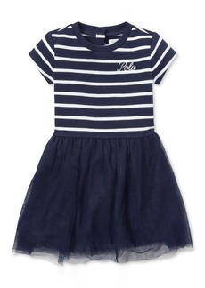 Ralph Lauren: Polo Ralph Lauren Baby Girls Striped Shirtdress