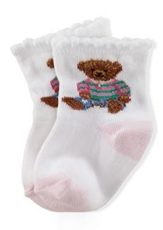 Ralph Lauren: Polo Ralph Lauren Baby Girls Teddy Crew Socks Pair