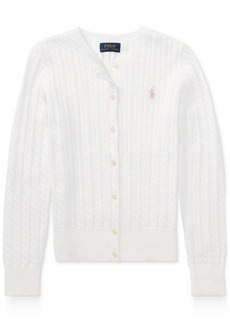 Ralph Lauren: Polo Ralph Lauren Cable Cardigan, Big Girls