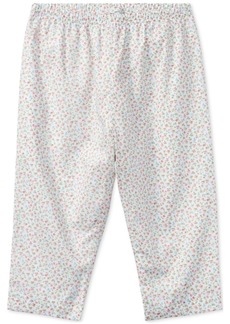 Ralph Lauren: Polo Ralph Lauren Floral Cotton Pull-Up Pants, Baby Girls