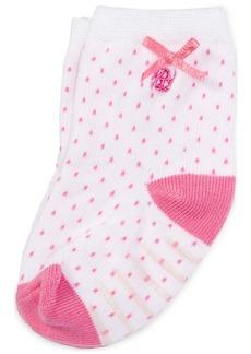 Ralph Lauren: Polo Ralph Lauren Baby Girls Pindot Crew Socks