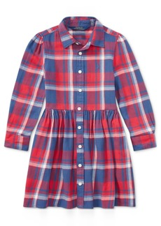 Ralph Lauren: Polo Ralph Lauren Plaid Cotton Shirtdress, Little Girls
