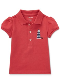 Ralph Lauren: Polo Ralph Lauren Puffed-Sleeve Cotton Polo Shirt, Baby Girls