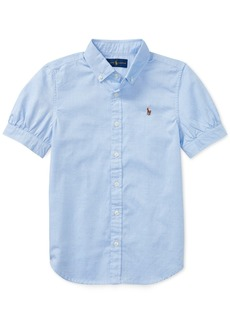 Ralph Lauren: Polo Ralph Lauren Big Girls Solid Oxford Top
