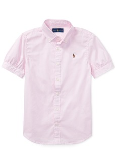 Ralph Lauren: Polo Polo Ralph Lauren Big Girls Solid Oxford Top