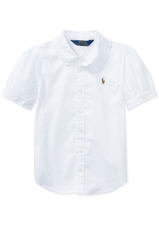 Ralph Lauren: Polo Ralph Lauren Toddler Girls Solid Oxford Top
