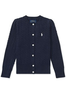 Ralph Lauren: Polo Polo Ralph Lauren Toddler Girls Cable-Knit Cotton Cardigan