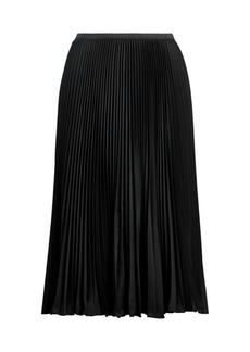 Ralph Lauren: Polo Rese Pleated A-Line Skirt