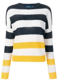 Ralph Lauren: Polo ribbed knitted striped jumper