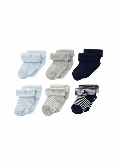 Ralph Lauren: Polo Ribbed Striped Turncuff Socks 6-Pack (Infant)