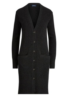 Ralph Lauren: Polo Ribbed Wool & Cashmere Blend Cardigan