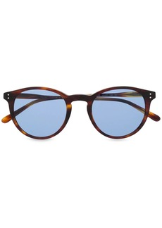 Ralph Lauren Polo round blue-tint sunglasses
