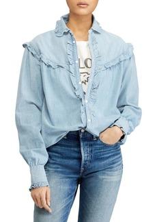 Ralph Lauren: Polo Ruffle Button-Front Shirt