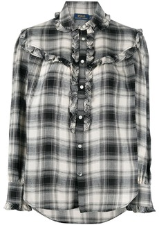 Ralph Lauren: Polo ruffle-trimmed plaid shirt