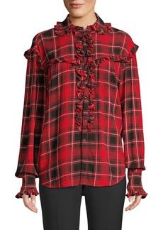 Ralph Lauren: Polo Ruffled Plaid Shirt