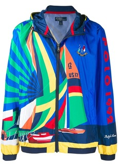 Ralph Lauren Polo Sailboat print hooded jacket