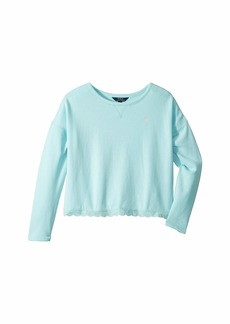 Ralph Lauren: Polo Scallop Trim French Terry Sweatshirt (Little Kids/Big Kids)