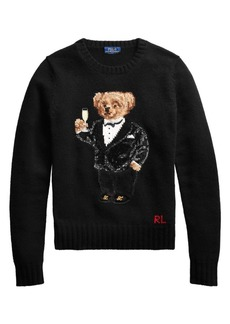 Ralph Lauren: Polo Sequin Bear Long Sleeve Sweater