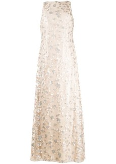 Ralph Lauren: Polo sequin-embroidered sleeveless gown
