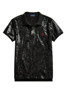 Ralph Lauren: Polo Sequin Polo T-Shirt