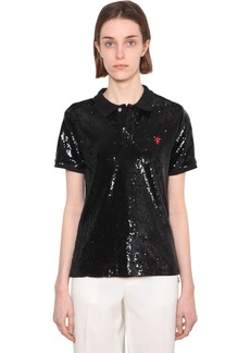 Ralph Lauren: Polo Sequined Mesh Polo