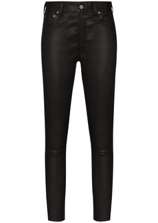 Ralph Lauren: Polo leather skinny trousers