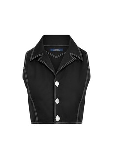 Ralph Lauren: Polo Sleeveless Denim Slim-Fit Crop Top