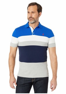 Ralph Lauren Polo Slim Fit Color Block Mesh Polo
