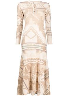 Ralph Lauren: Polo Southwestern Beacon-print cotton dress