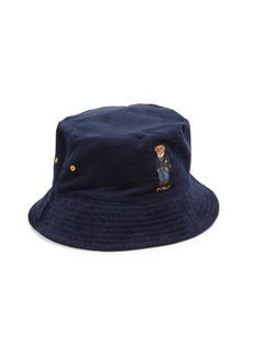 Ralph Lauren Polo St. Andrew Kicker Bear Reversible Bucket Hat