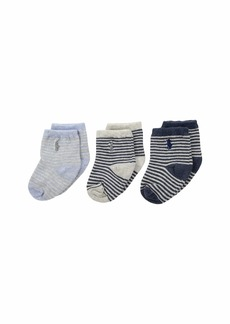 Ralph Lauren: Polo St. James Stripe 3-Pack (Infant)