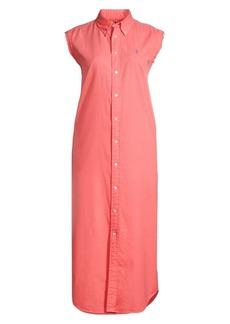 Ralph Lauren: Polo Stanford Sleeveless Button-Down Shirtdress