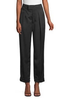 Ralph Lauren: Polo Straight Cropped Wool Pants