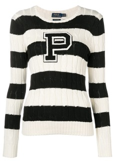 Ralph Lauren: Polo striped cable knit sweater