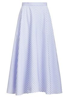 Ralph Lauren: Polo Striped Cotton A-Line Skirt