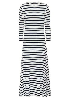 Ralph Lauren: Polo Striped cotton and modal midi dress