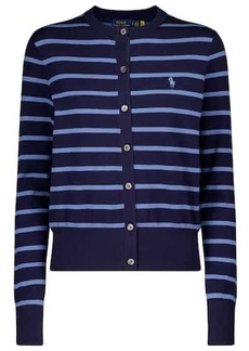 Ralph Lauren: Polo Striped cotton-blend cardigan