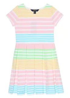 Ralph Lauren: Polo Striped cotton-blend dress