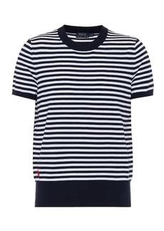 Ralph Lauren: Polo Striped cotton-blend T-shirt