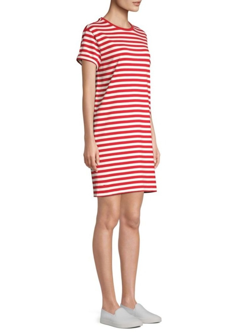 T Jersey Cotton Shirt Striped Dress BordCxe