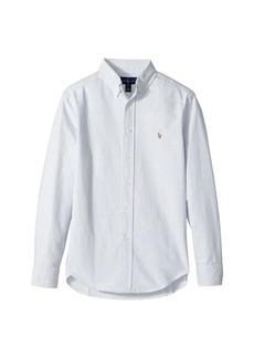 Ralph Lauren: Polo Striped Cotton Oxford Shirt (Big Kids)