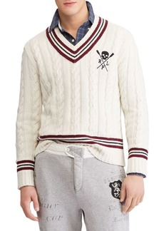 Ralph Lauren Polo Striped Cricket Sweater